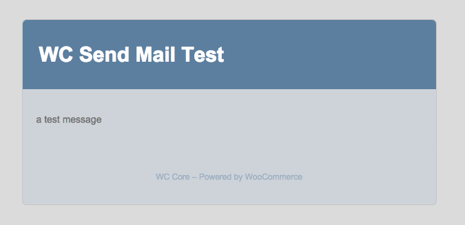 WooCommerce Test Email
