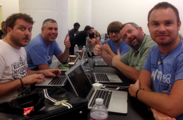 Onboarding wizard team at the Woo Hackithon