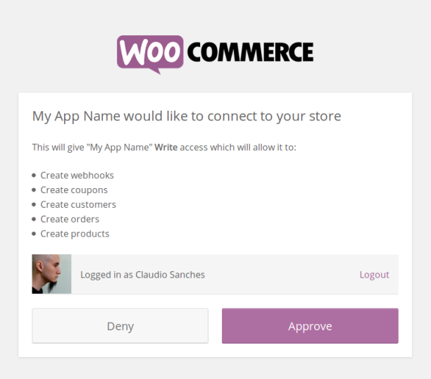 woocommerce-auth-endpoint